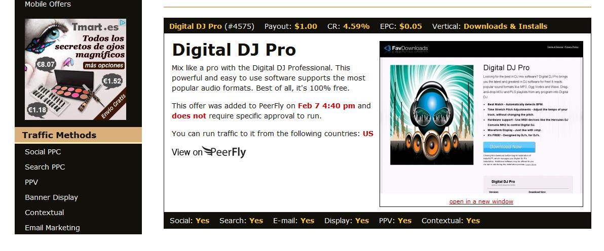 peerfly oferta
