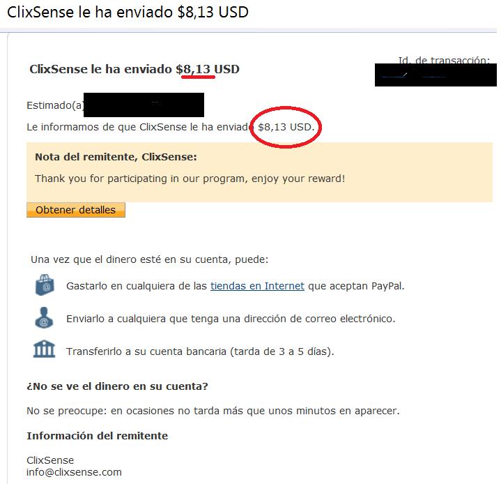 2 Prueba de pago Clixsense